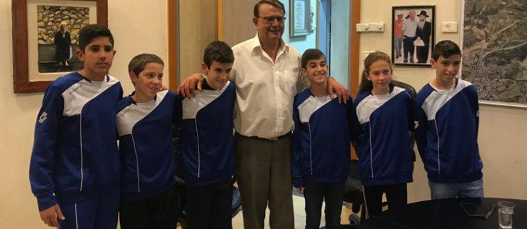 פגישת ראש העיר עם ילדי הקבוצה